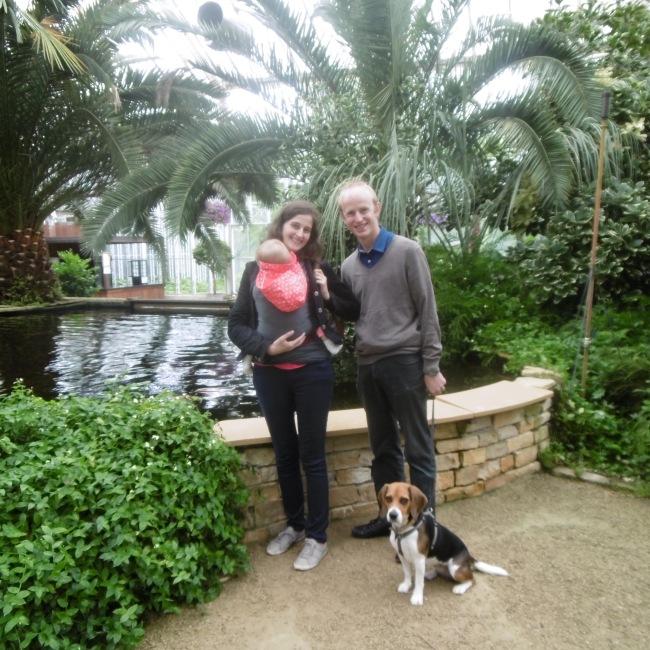gezin met hond