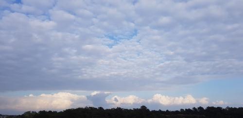 wolken op texel