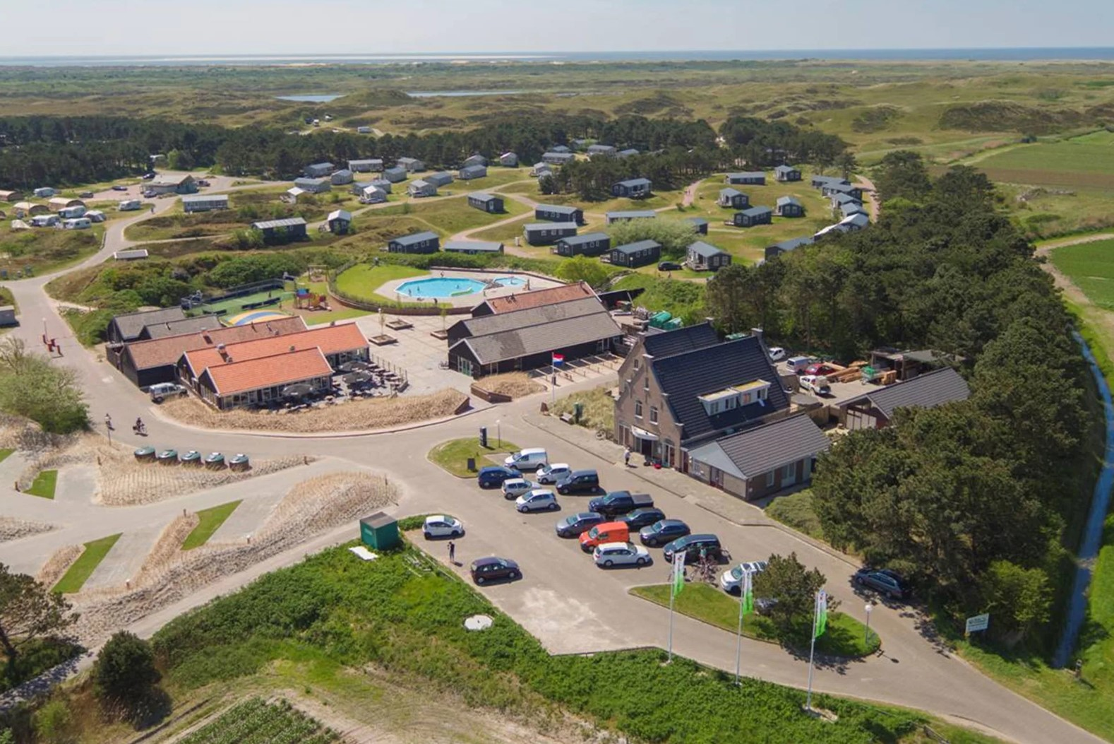 Camping Loodsmansduin luchtfoto