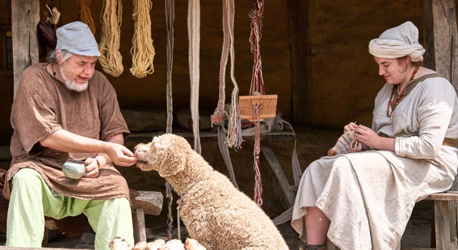 hond in prehistorisch dorp eindhoven